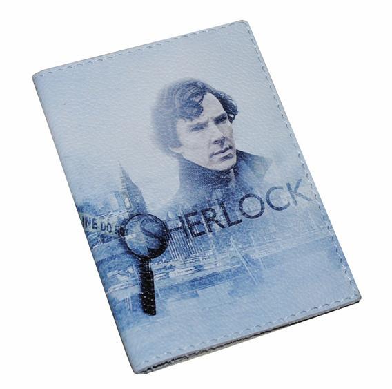 Кожаная обложка для паспорта -Шерлок Холмс-