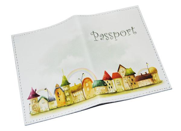Обложка для паспорта -Домики-