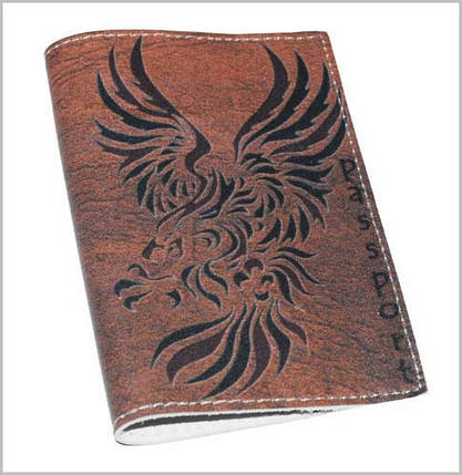 Обложка мужская для паспорта -Drakon-, фото 2