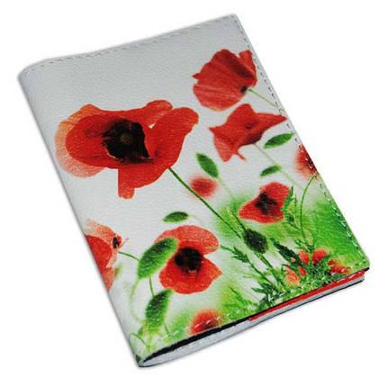 Обложка для паспорта женская цветы -Маки-, фото 2