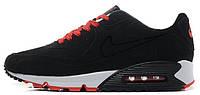 Мужские кроссовки Nike Air Max 90 VT Tweed Black (Найк Аир Макс) черные