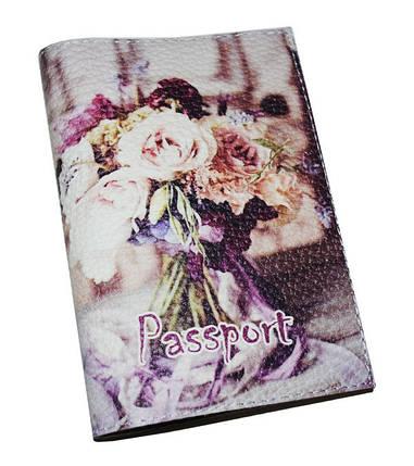 Женская обложка для паспорта с цветами -Букет-, фото 2