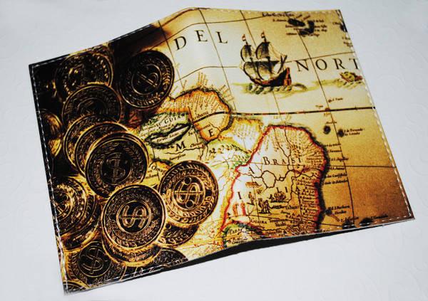 Обложка для паспорта/загранпаспорта -Золотые монеты-, фото 2