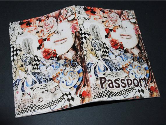 Обложка  для паспорта  -Алиса в стране чудес-, фото 2