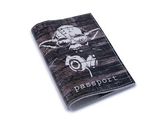 Кожаная обложка для паспорта -Магистр Йода-, фото 2