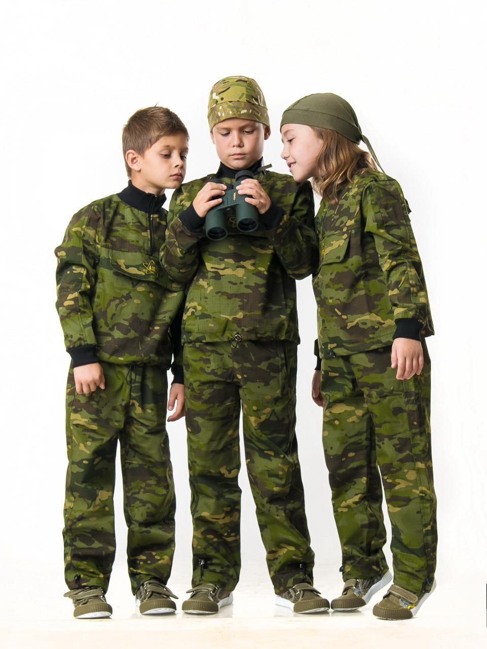 Детский камуфляж костюм для мальчиков Зарница цвет Мультикам Тропик