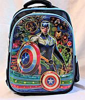Школьный рюкзак ортопедический Мстители для мальчиков. Портфель ранец для школы 1, 2, 3 класс