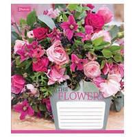 Тетрадь 18листов лин.1Вересня 18 лин. 1В Flowers bouquet -17