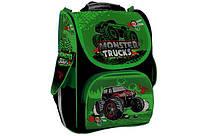 Рюкзак шкільний каркасний для хлопчика WILLY MONSTER TRUCKS WL-856 33 * 25 * 14 см
