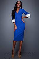 Женское платье Полит электрик Jadone Fashion 42-48 размеры