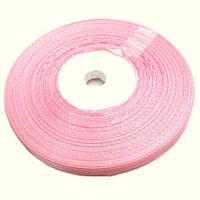 Лента атласная розовая 0.5см
