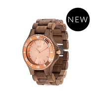 Часы WeWood Date MB Nut Rough Rose Gold