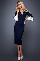 Женское темно-синее платье Полит  Jadone Fashion 42-48 размеры