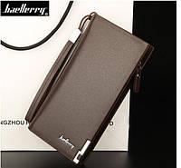 Элитный мужской портмоне кошелёк Baellerry Classic коричневый BC50k
