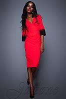 Женское красное платье Полит  Jadone Fashion 42-48 размеры