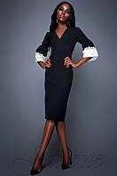 Женское черное платье Полит  Jadone Fashion 42-48 размеры
