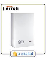 Котел газовый Ferroli DOMITech F 24 D M (WF) (24 кВт, турбированный, двухконтурный)