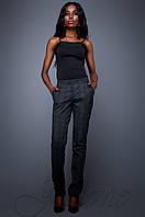 Женские черные брюки Ева  Jadone Fashion 42-48 размеры