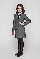 Стильный жакет в школу на девочку Жасмин TM cvetkov Размер 122- 158 Цвет синий черный серый