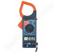 Клемметр Ресанта DT 266C, токоизмерительные клещи, мультиметр клещи, омметр, амперметр, вольтметр + чехол