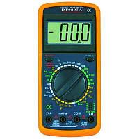 Мультиметр DT-9207A , многофункциональный цифровой тестер, измерение емкости, тока, напряжения, сопротивления,