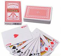 Карты игральные (54шт/кол) POKER Club Special (красная рубашка) Y-001
