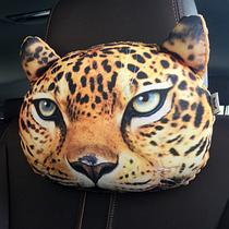 Подушка - подголовник 3D Леопард (04111)