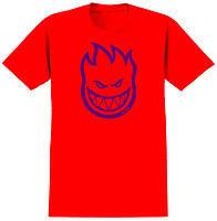 Футболка SPITFIRE BIGHEAD Red/Purple мужская,женская,детская