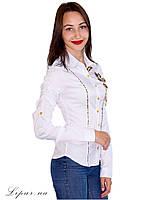 Женская рубашка на пуговках 3095 белый