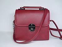 Оригинальный женский клатч через плечо DLB бордового цвета