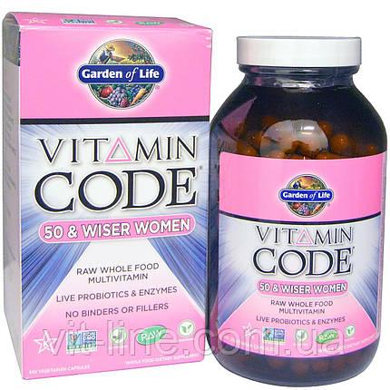 Garden of Life, Витаминный код, для женщин от 50 лет и старше, 240 вегетарианских капсул, фото 2