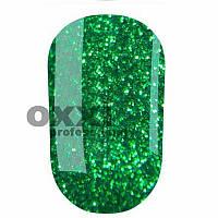 Гель-лак Oxxi 8 мл №197 яркий зеленый с насыщенными блестками