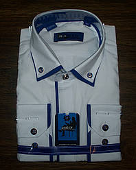Рубашка нарядная полуприталенная для мальчиков 116-158 Польша