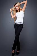 Элегантный женский топ Лози молоко  Jadone Fashion 42-48 размеры