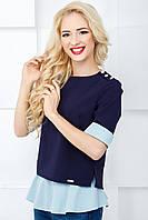 Женская нарядная блуза 812 светло-голубой