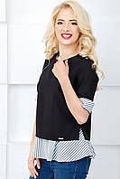 Женская нарядная блуза 812 крупная полоска