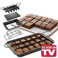 Форма для вкуснейшей выпечки Perfect Brownie, порционная форма Перфект Брауни