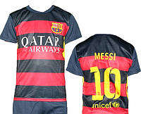 Детская (5-10 лет) футбольная форма ''Месси'' - ФК''Барселона'' (2015/2016) - сине-гранатовая, домашняя