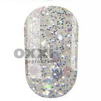 Гель-лак Oxxi 8 мл №206 прозрачный с голографическими блестками