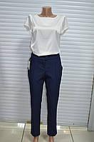 Женские классические брюки темно-синие