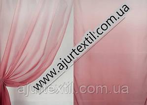Тюль вуаль бордово-вишнево-белая, фото 3