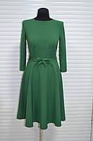 Платье женское клеш зеленое
