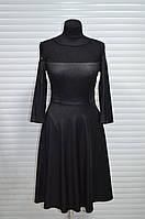 Платье черное в гипюром