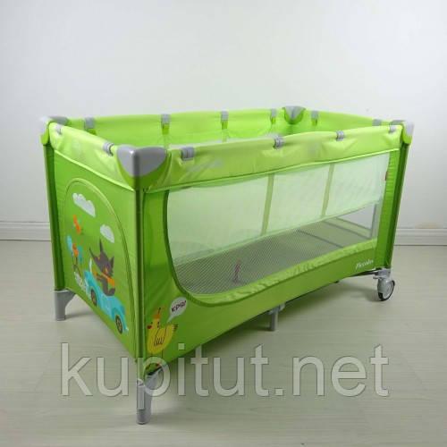 Манеж-кровать CARRELLO Piccolo+ CRL-9201 Green, зеленый