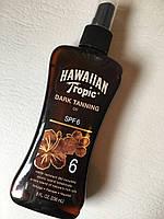 Масло для загара  Hawaiian Tropic dark tanning oil spf 6