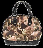 Кожаные женские каркасные сумки