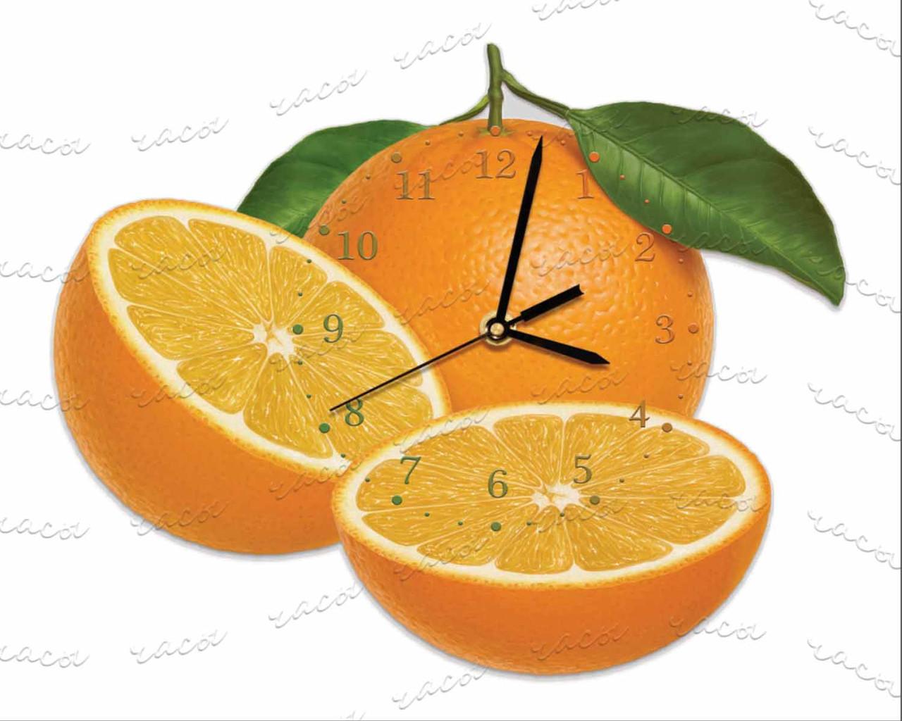 """Часы оргстекло """"Апельсины"""""""
