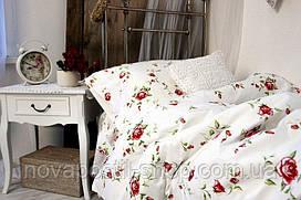 Постельное белье с розами Традиция (ранфорс, 100% хлопок)