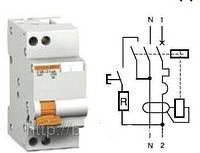11471 двухполюсный 25A/300mA дифференциальный автоматический выключатель АД63  Schneider Electric Domovoy