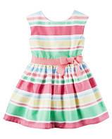 Платье сатиновое для девочки Carters